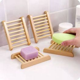 JMBamboo Wooden Soap Dish for Shower and Bathroom, Soap Dish Holder
