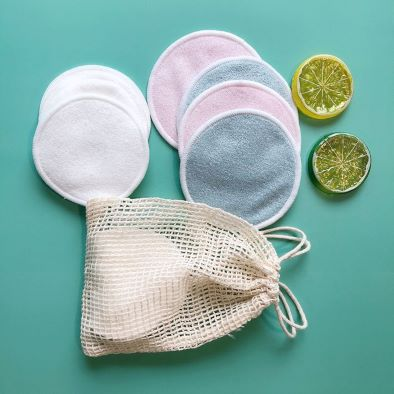 Reusable Organic Makeup Remover Pads With Washable Laundry Bag