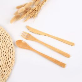 Bamboo Cutlery  Portable Cutlery Reusable Knife Fork Spoon