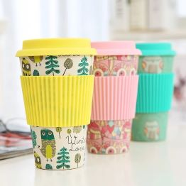 JM Reusable Coffee Cup made of Sustainable Organic Bamboo Coffee