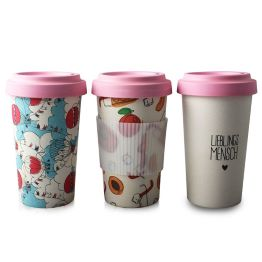 Bamboo Coffee Cup Unique Sustainable BPA-Free Ecological Cups Reusable Travel Cups