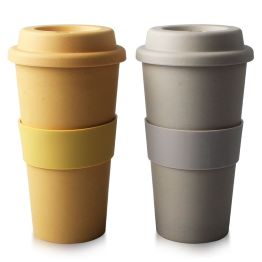 Eco-Friendly Reusable Bamboo Coffee Cup Plastic Free Product & Packaging 450ml