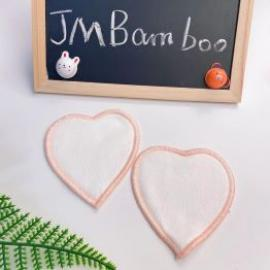 JMBamboo Organic Heart Shape Makeup Remover Pads With Washable Laundry Bag